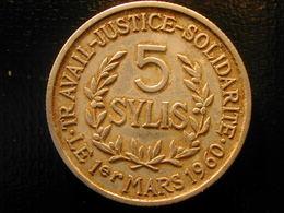 Guinea  Africa  5 Sylis   1971 - Monnaies