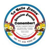 ETIQUETTE De FROMAGE. CAMEMBERT FRANCAIS..La Belle France - Cheese