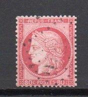 - FRANCE N° 57 Oblitéré Losange - 80 C. Rose Type Cérès 1872, Gros Chiffres - Cote 15 EUR - - 1871-1875 Cérès