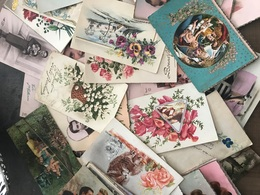 Lot D'environ 80 CPA Fantaisies - Cartes Postales