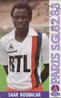 FOOTBALL CP SAAR  BOUBACAR  PARIS SAINT GERMAIN 1982/83 - Football