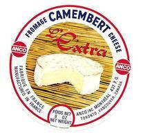 ETIQUETTE De FROMAGE. CAMEMBERT Fabriqué En FRANCE..L'Extra..ANCO - Cheese