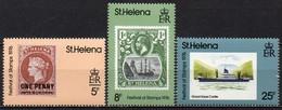 Sainte-Hélène - 1976 - Yvert N° 281 à 283 ** - Festival Du Timbres - Sainte-Hélène