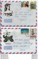 Lot De 2 Enveloppes TAHITI - Cartas