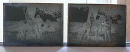 MULE MULET ANE - PLAQUE DE VERRE PHOTO 9 X 6.5 CM - LOT DE 2 - Plaques De Verre