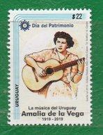1688 URUGUAY 2019-Amalia De La Vega-Día Del Patrimonio-TT: Cantante,Guitarras,Mates - Uruguay