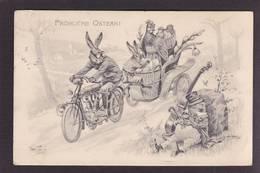 CPA THIELE Arthur Lapin Moto Grenouille Position Humaine Habillé Circulé - Animali Abbigliati