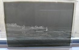 PECHE A LA MER - PLAQUE DE VERRE PHOTO 8.5 X 6.5 CM - Plaques De Verre