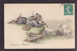 CPA MM VIENNE 347 Lapin Mouton Position Humaine Habillé Circulé - Animali Abbigliati