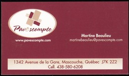 Pave Escompte, Mascouche QC (*) (VC693) - Visiting Cards
