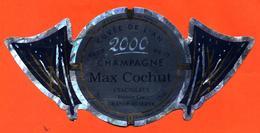 étiquette De Champagne Brut Cuvée De L'an 2000 Max Cochut à Tauxières - 75 Cl - Champagne
