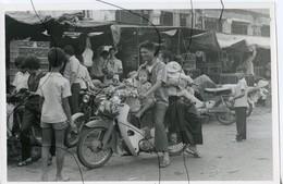 PHOTO ANIMÉE .VIETNAM .Viêt-Nam. Moto, Mobylette, Solex, Scooter. - Places