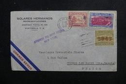 GUATEMALA - Enveloppe Commerciale Pour La France En 1941 Avec Contrôle Postal , Affranchissement Plaisant - L 49174 - Guatemala