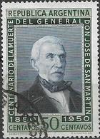 ARGENTINA 1950 San Martin's Death Centenary - 50p Portrait Of San Martin FU - Used Stamps