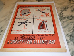 ANCIENNE PUBLICITE  AMORTISSEUR ALLINQUANT 1958 - Manifesti