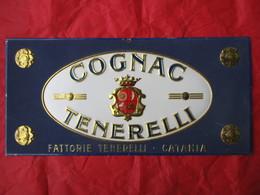 Targa/insegna COGNAC TENERELLI - CATANIA - Liqueur & Bière