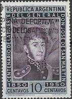ARGENTINA 1950 San Martin's Death Centenary - 10p Portrait Of San Martin FU - Used Stamps