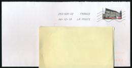 """2019 : Timbre Postal Adhésif """"Touristique, Abbaye De Longuay, Grand Est"""" Seul Sur Lettre - Marcophilie (Lettres)"""