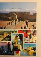 LOT DE 2 CPSM MAROC 1971-1982 MARRAKECH Le Souk Aux Teinturiers-le Minaret KOUTOUBIA-pavillon Des Jardins De La Ménora - Marrakech