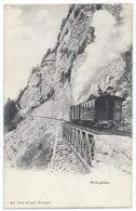 Brünigbahn Crémaillière Zahnradbahn Cog Railway Bergbahn Tram Train Dampf Eisenbahn Train 1910er - OW Obwald