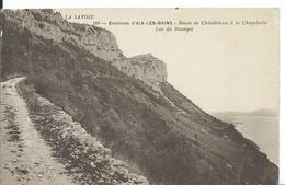 AIX-LES-BAINS  Environs    ( SAVOIE ) ROUTE DE CHINDRIEUX A LA CHAMBOTTE. LAC DU BOURGET - Aix Les Bains