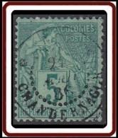 Colonies Générales - N° 49 (YT) N° 49 (AM) Oblitéré De Inde / Chandernagor. Très Petit Aminci. - Alphée Dubois