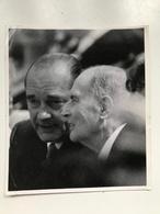 Photographie Ancienne Présidents Français Photo Bernard Wis Paris Match - Reproductions