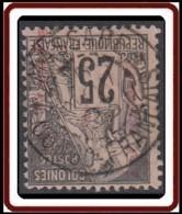 Colonies Générales - N° 54 (YT) N° 54 (AM) Oblitéré De Massabe. Surcharge Fiscale : Congo Français ENR 10 Centimes. - Alphée Dubois