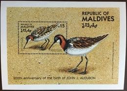 Maldives 1985 Audubon Birds 1st Series Minisheet MNH - Vögel