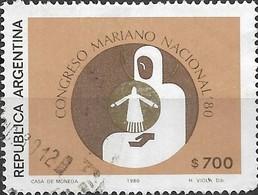 ARGENTINA 1980 National Marian Congress, Mendoza - 700p Congress Emblem FU - Argentina