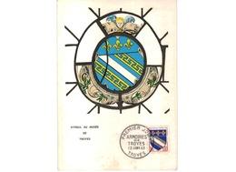 Carte 1er Jour  / Vitrail Au Musée / Troyes   / 12-1-63  / Coin Plié - 1960-69