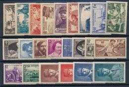 DE-115: FRANCE: Lot Avec Année 1940*  (451/52**-458**) - 1940-1949