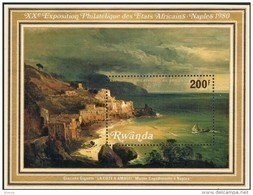 Rwanda Ruanda 1980 OBCn° Bloc 85 *** MNH  Cote 7,50 Euro Naples Napoli Amalfi - 1980-89: Neufs