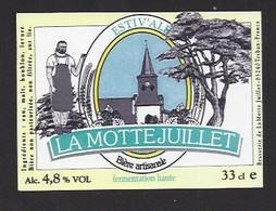 Etiquette De  Bière Artisanale  -  Estiv'ale  -  Brasserie De La Motte Juillet  à  Tréban  (03) - Beer