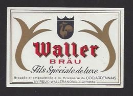 Etiquette De  Bière  De Luxe  -  Waller  -  Brasserie Du Coq Ardennais à Vireux Wallerandia  (08) - Bière