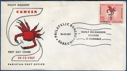 PAKISTAN 1967 MNH FDC FIRST DAY COVER FIGHT AGAINST CANCER - Pakistan