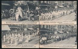ANTWERPEN KOLONIALE FEESTEN 6 JUNI 1909    4 KAARTEN - Antwerpen