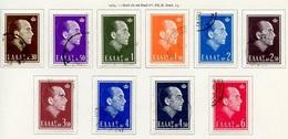 Grèce - Griechenland - Greece 1964 Y&T N°813 à 822 - Michel N°835 à 844 (o) - Roi Paul I - Grèce