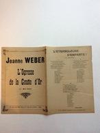 Partition Musicale : Jeanne Weber L'Ogresse De La Goutte D'Or  Air : Mon Gosse  Marius Réty - Partitions Musicales Anciennes