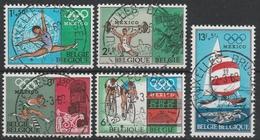 1456/1460 Mexico 1968 Oblit/gestp Centrale - Belgique