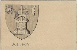 81 Albi   Carte Postale Blason Armoirie De La Cite Alby - Albi