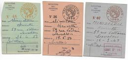 1949+1950+1951 - CARTE RECEPISSE De DECLARATION De VELOCIPEDES - Fiscale Zegels