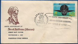 PAKISTAN MNH 1969 FDC FIRST DAY COVER 1000TH ANNIVERSARY OF IBN-AL-HAITHAM FATHER OF - Pakistan