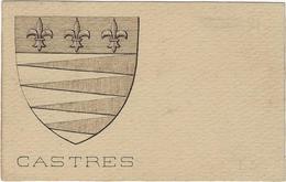 81  Castres Carte Postale Blason Armoirie De La Cite - Castres