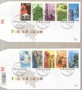 BELG.2003 3184-93 - FDC - This Is Belgium - Historische Steden - FDC