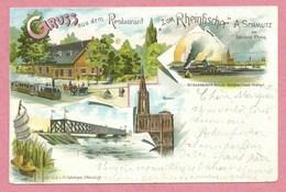 67 - GRUSS Aus STRASSBURG - STRASBOURG - Restaurant Zum Rheinfischer - A. SCHMUTZ - Litho Couleur GABELMANN - Straatsburg