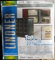 Lindner - Feuilles NEUTRES LINDNER-T REF. 802 119 P (2 Bandes Verticales) (paquet De 10) - Albums & Binders