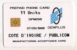 COTE D'IVOIRE REF MV CARDS IVC-T-05 11U GEMPLUS ANNEE 1996 RARE - Côte D'Ivoire