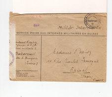 Env. En FM Pour Epinal Interné Militaire En Suisse C. Camp Militaire De Balterswill. Gröffnet Ouverte Par Censure. (2635 - Postmark Collection (Covers)