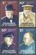 Grenadines Of St Vincent. 1974 Birth Centenary Of Winston Churchill. MH Complete Set SG 53-56 - St.Vincent & Grenadines